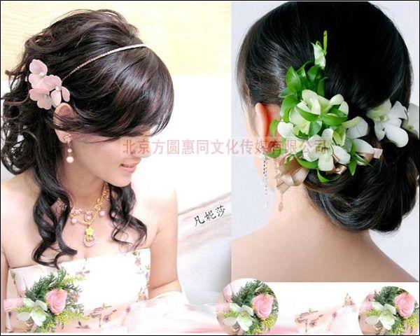 新娘妆盘发图片